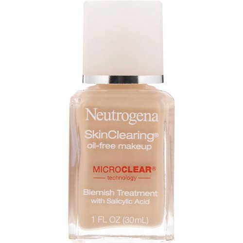 Neutrogena, SkinClearing Oil-Free Makeup, Classic Ivory 10, 1 fl oz (30 ml) Review