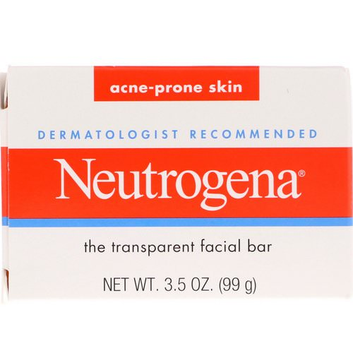 Neutrogena, The Transparent Facial Bar, Acne Prone Skin, 3.5 oz (99 g) Review