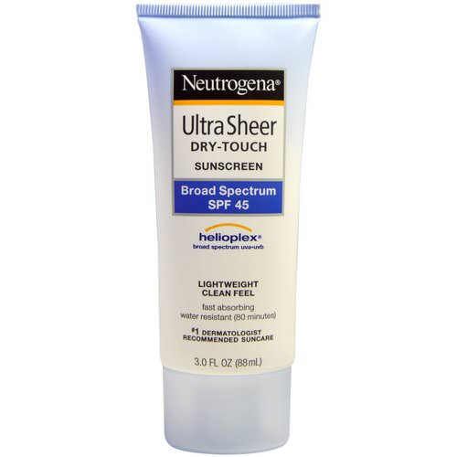 Neutrogena, Ultra Sheer Dry-Touch Suncreen, SPF 45, 3.0 fl oz (88 mL) Review