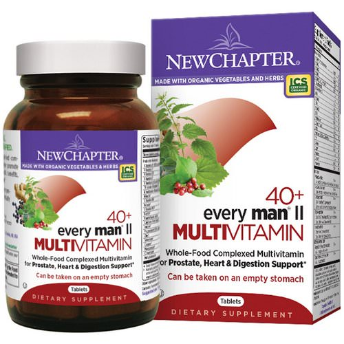 New Chapter, 40+ Every Man II Multivitamin, 96 Tablets Review