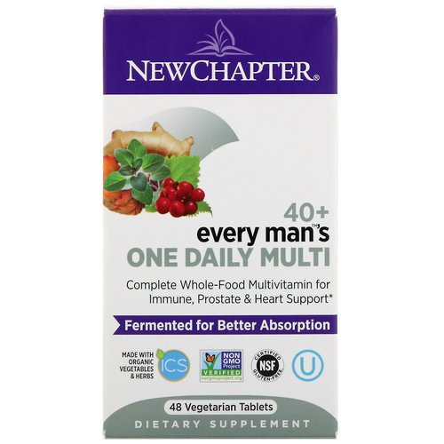 New Chapter, 40+ Every Man's One Daily Multi, 48 Vegetarian Tablets Review