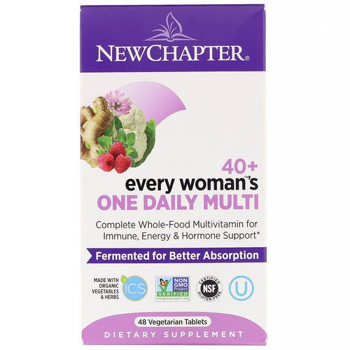 New Chapter, 40+ Every Woman's One Daily Multi, 48 Vegetarian Tablets Review