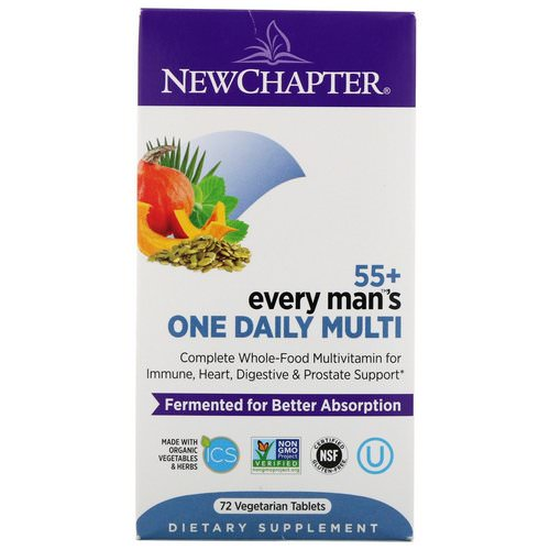 New Chapter, 55+ Every Man's One Daily Multi, 72 Vegetarian Tablets Review