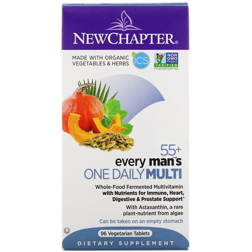 New Chapter, 55+ Every Man's One Daily Multi, 96 Vegetarian Tablets Review