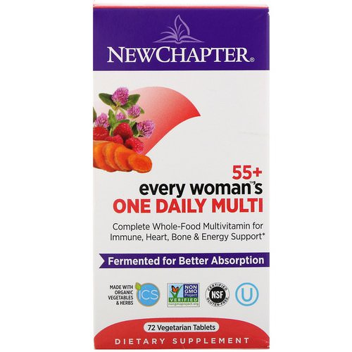 New Chapter, 55+ Every Woman's One Daily Multi, 72 Vegetarian Tablets Review