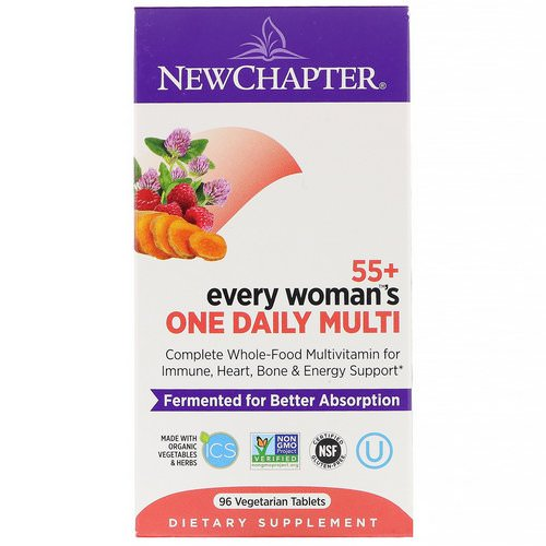 New Chapter, 55+ Every Woman's One Daily Multi, 96 Vegetarian Tablets Review