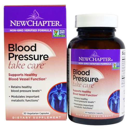 New Chapter, Blood Pressure, Take Care, 30 Vegetarian Capsules Review