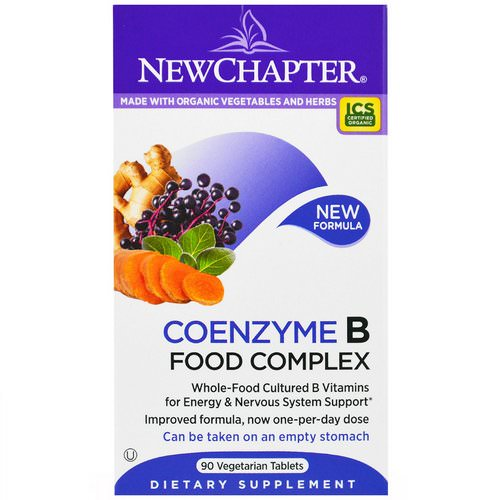 New Chapter, Coenzyme B Food Complex, 90 Veggie Tabs Review