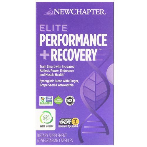 New Chapter, Elite Performance + Recovery, 60 Vegetarian Capsules Review