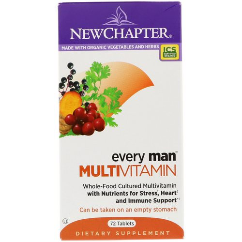 New Chapter, Every Man Multivitamin, 72 Tablets Review