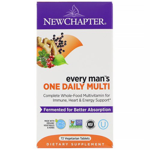 New Chapter, Every Man's One Daily Multi, 72 Vegetarian Tablets Review