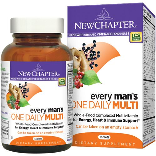 New Chapter, Every Man's One Daily Multi, 96 Tablets Review