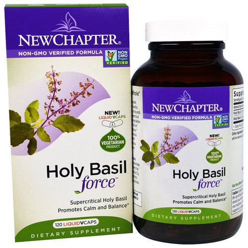 New Chapter, Holy Basil Force, 120 Liquid VCaps Review