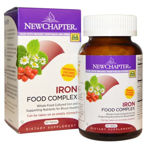 New Chapter, Iron, Food Complex, 60 Tablets Review