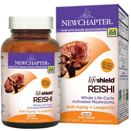 New Chapter, Organics, LifeShield, Reishi, 60 Veggie Caps Review