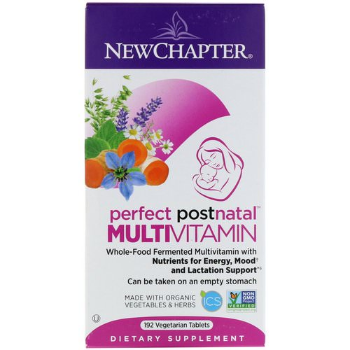 New Chapter, Perfect Postnatal Multivitamin, 192 Vegetarian Tablets Review