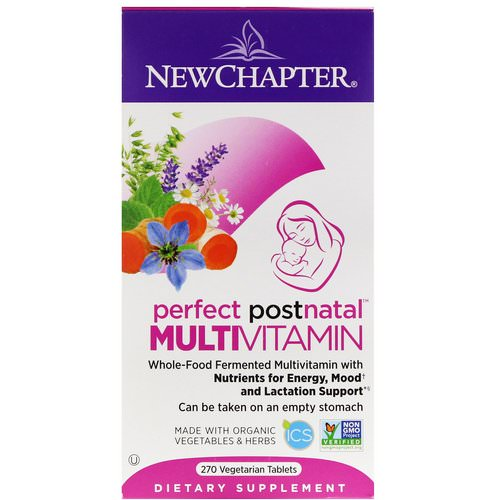 New Chapter, Perfect Postnatal Multivitamin, 270 Vegetarian Tablets Review