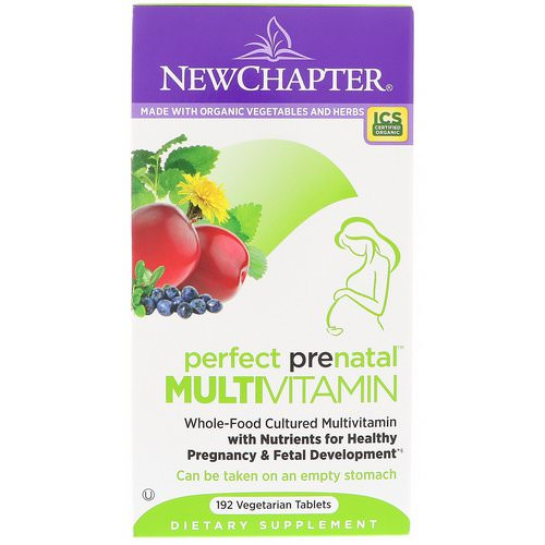 New Chapter, Perfect Prenatal Multivitamin, 192 Vegetarian Tablets Review
