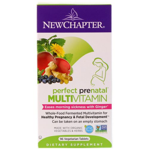 New Chapter, Perfect Prenatal Multivitamin, 96 Vegetarian Tablets Review