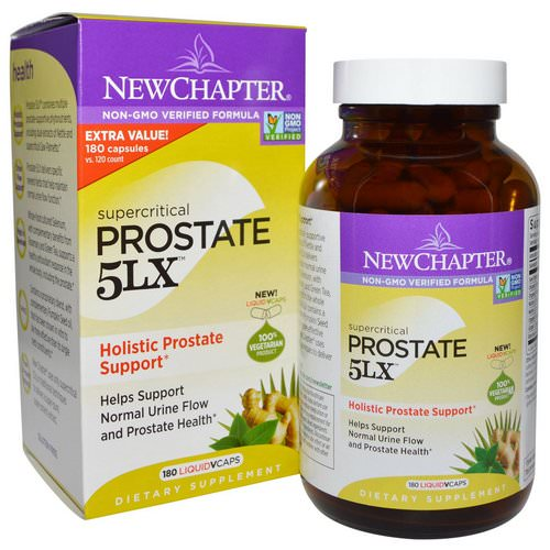 New Chapter, Prostate 5LX, Holistic Prostate Support, 180 Liquid Vcaps Review