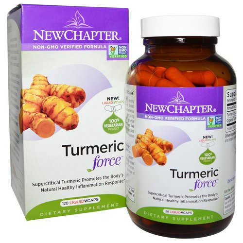 New Chapter, Turmeric Force, 120 Vegetarian Capsules Review