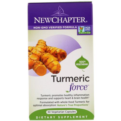 New Chapter, Turmeric Force, 30 Vegetarian Capsules Review