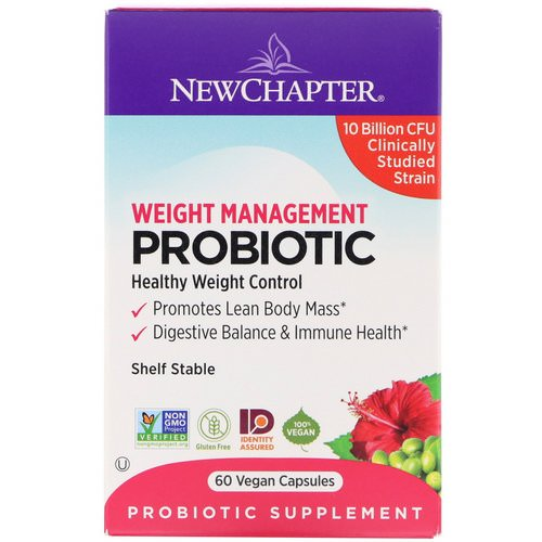 New Chapter, Weight Management Probiotic, 10 Billion CFU, 60 Vegan Capsules Review