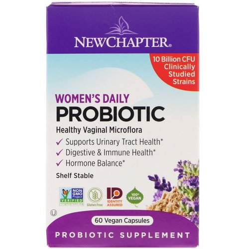 New Chapter, Women's Daily Probiotic, 10 Billion CFU, 60 Vegan Capsules Review