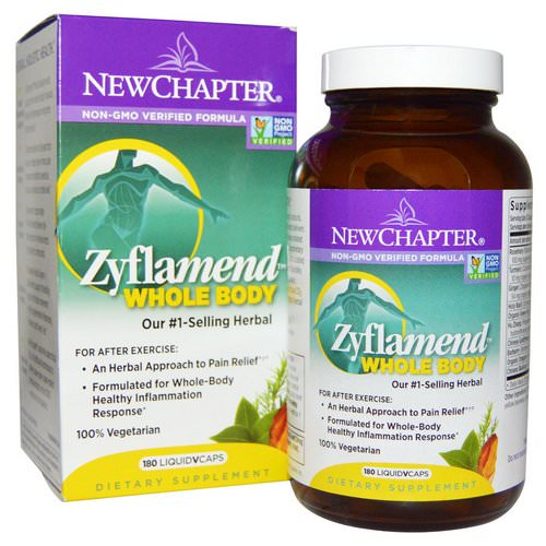 New Chapter, Zyflamend Whole Body, 180 Vegetarian Capsules Review