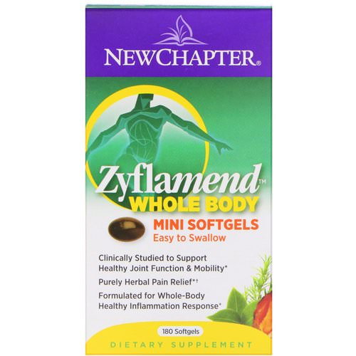 New Chapter, Zyflamend, Whole Body, Mini Softgels, 180 Softgels Review