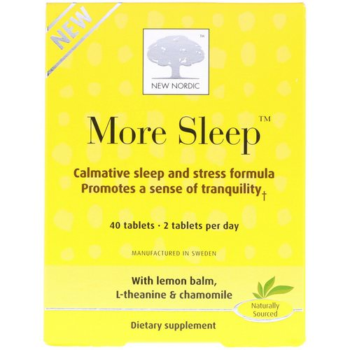 New Nordic, More Sleep, Calmative Sleep and Stress Formula, 40 Tablets Review