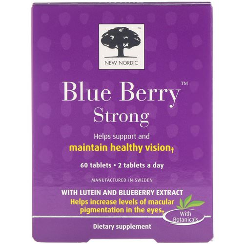 New Nordic, Blue Berry Strong, 60 Tablets Review