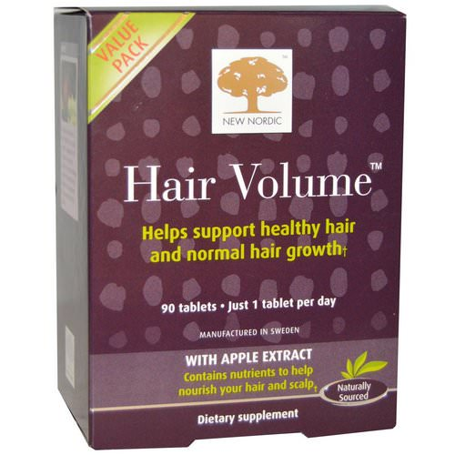 New Nordic, Hair Volume With Apple Extract, 90 Tablets Review
