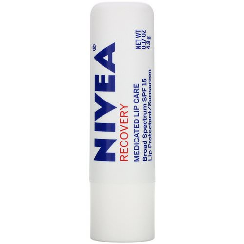 Nivea, Recovery, Medicated Lip Protectant & Sunscreen, SPF 15, 0.17 oz (4.8 g) Review