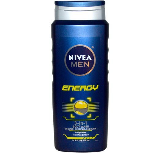 Nivea, Men 3-in-1 Body Wash, Energy, 16.9 fl oz (500 ml) Review
