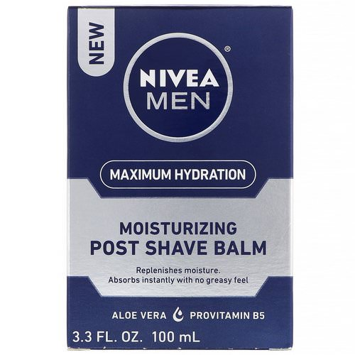 Nivea, Men, Maximum Hydration, Moisturizing Post Shave Balm, 3.3 fl oz (100 ml) Review