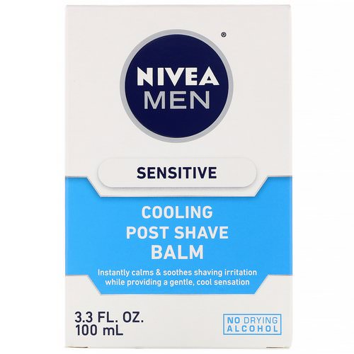 Nivea, Men, Sensitive Cooling Post Shave Balm, 3.3 fl oz (100 ml) Review