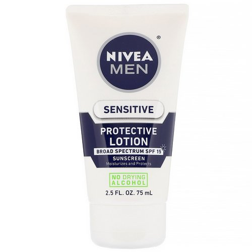 Nivea, Men, Sensitive Protective Lotion, SPF 15, 2.5 fl oz (75 ml) Review