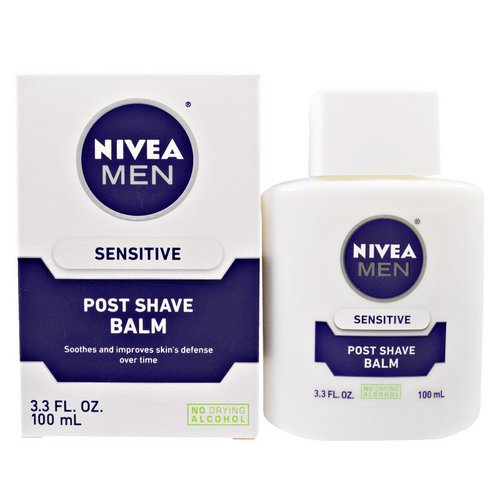 Nivea, Post Shave Balm for Men, Sensitive, 3.3 fl oz (100 ml) Review