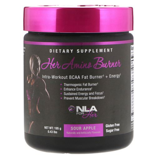 NLA for Her, Her Amino Burner, Intra-Workout BCAA Fat Burner + Energy, Sour Apple, 0.43 lbs (195 g) Review