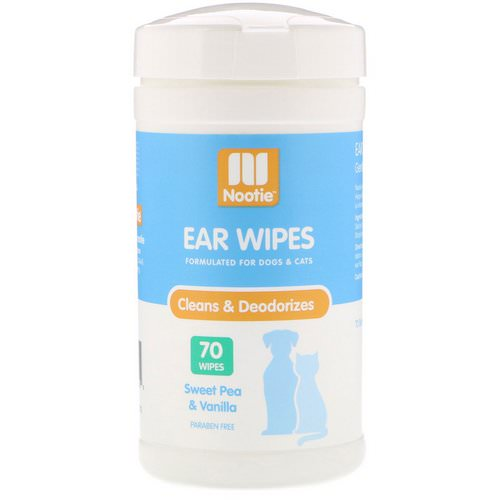 Nootie, Ear Wipes, For Dogs & Cats, Sweet Pea & Vanilla, 70 Wipes Review
