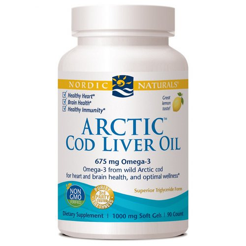Nordic Naturals, Arctic Cod Liver Oil, Lemon, 1000 mg, 90 Soft Gels Review