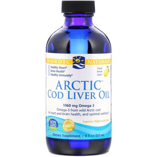 Nordic Naturals, Arctic Cod Liver Oil, Lemon, 8 fl oz (237 ml) Review
