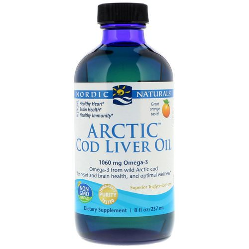 Nordic Naturals, Arctic Cod Liver Oil, Orange, 8 fl oz (237 ml) Review