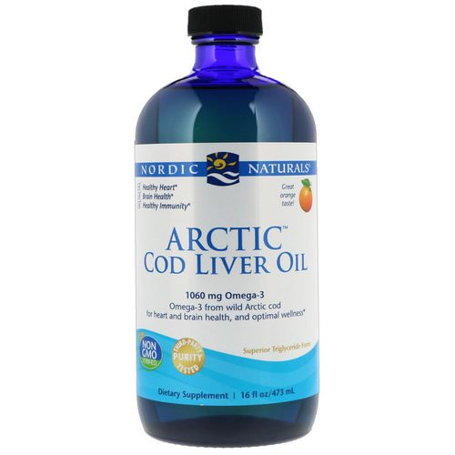 Nordic Naturals, Arctic Cod Liver Oil, Orange Flavor, 16 fl oz (437 ml) Review