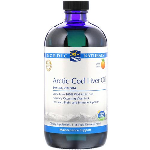 Nordic Naturals, Arctic Cod Liver Oil, Orange Flavor, 16 fl oz (473 ml) Review