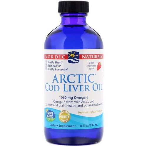 Nordic Naturals, Arctic Cod Liver Oil, Strawberry, 8 fl oz (237 ml) Review