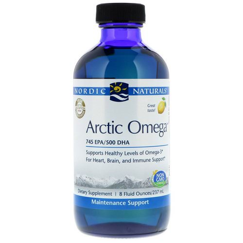 Nordic Naturals, Arctic Omega, Lemon Flavor, 8 fl oz (237 ml) Review
