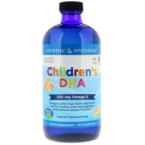 Nordic Naturals, Children's DHA, Strawberry, 16 fl oz (473 ml) Review