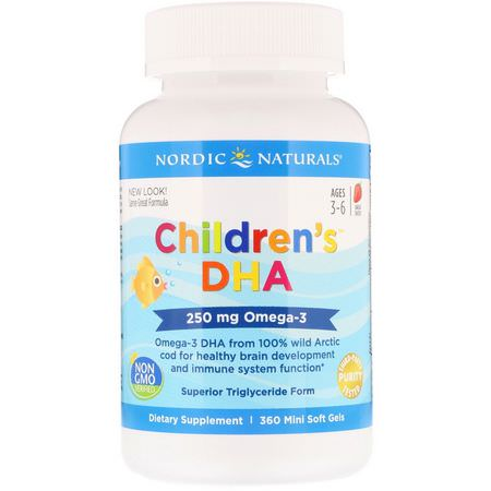 Nordic Naturals, Children's DHA, Omegas